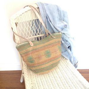 Sisal Market Bag Hippie Boho Shoulder Beach Bag